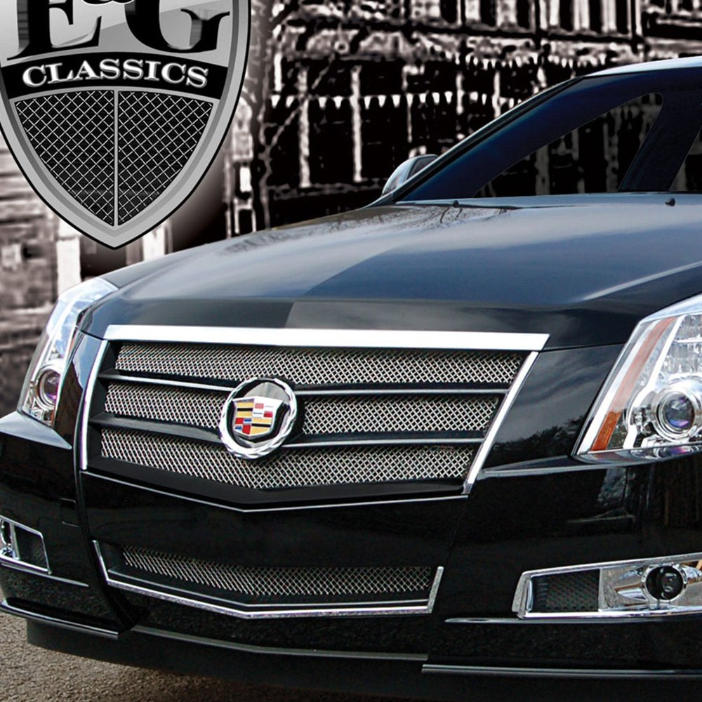 e g classics cadillac cts 2012 2 pc egx sport series chrome fine mesh grille. Black Bedroom Furniture Sets. Home Design Ideas