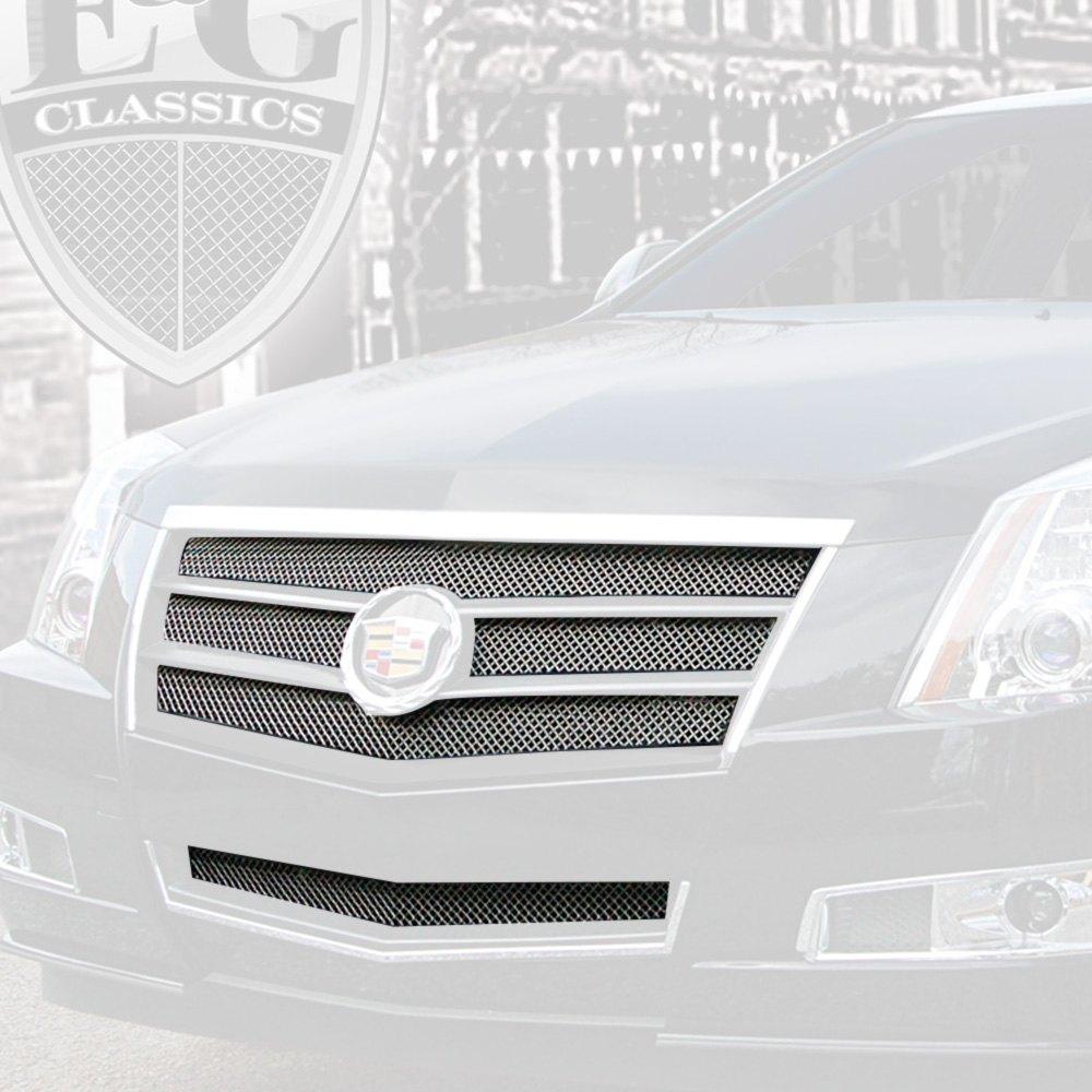 E&G Classics® - 2-Pc EGX Sport Series Chrome Fine Mesh Main and Bumper  Grille