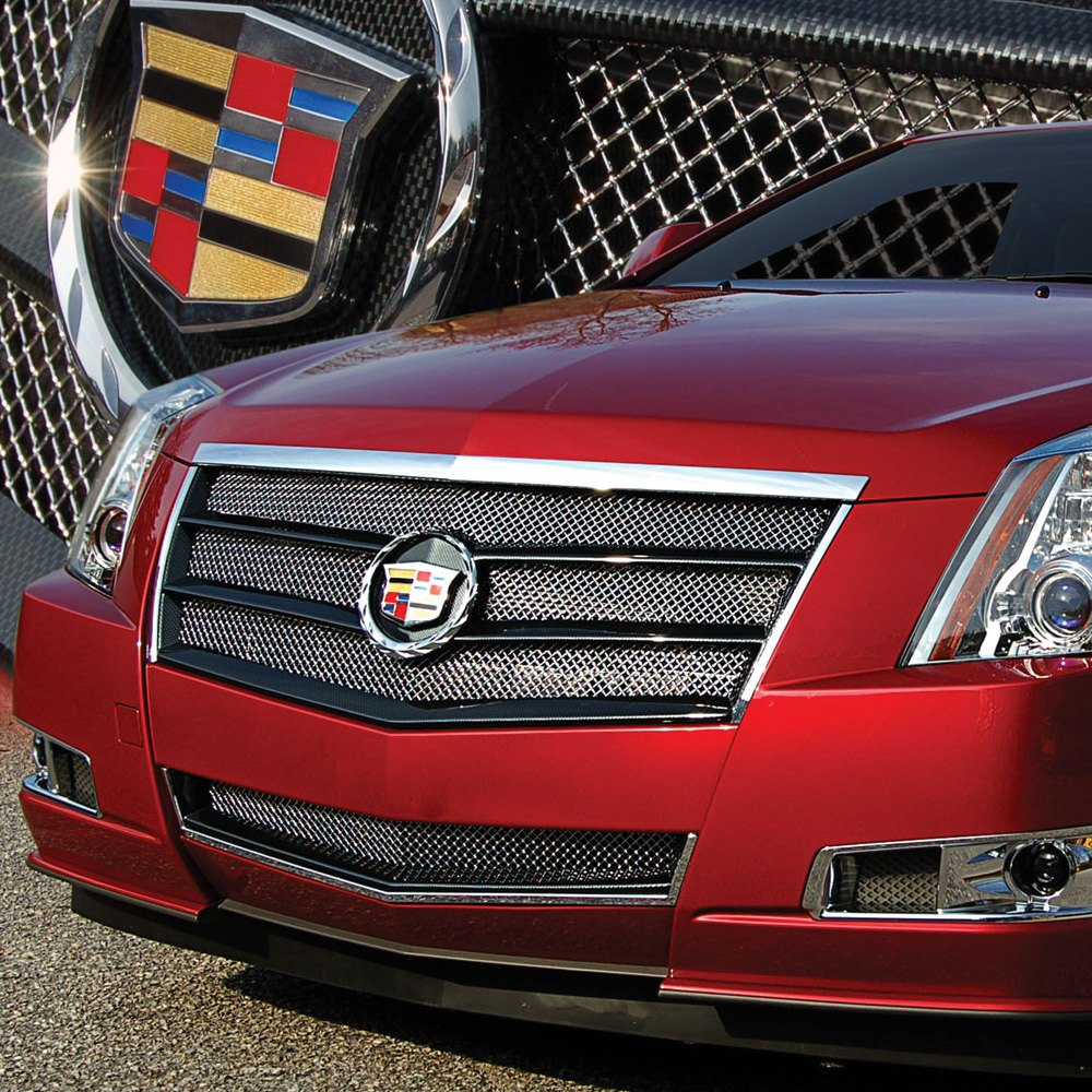 Cadillac Cts 2013 Price: Cadillac CTS 2009-2013 2-Pc EGX Sport Series Chrome Fine Mesh Main And Bumper