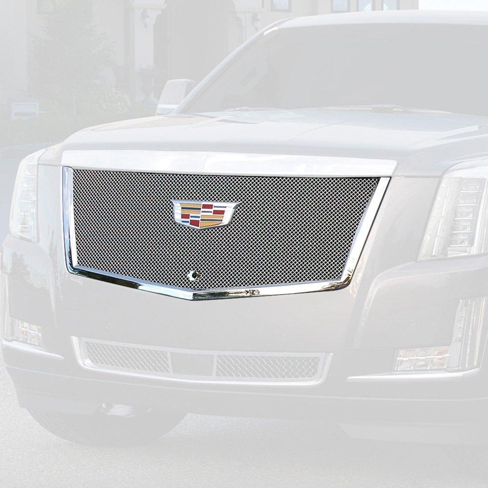 Used Escalade Cadillac: For Cadillac Escalade 15-18 E&G Classics 1-Pc Chrome Fine Mesh Main Grille