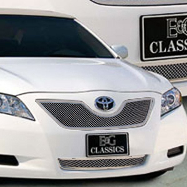 e g classics toyota camry 2008 2 pc chrome fine mesh grille. Black Bedroom Furniture Sets. Home Design Ideas