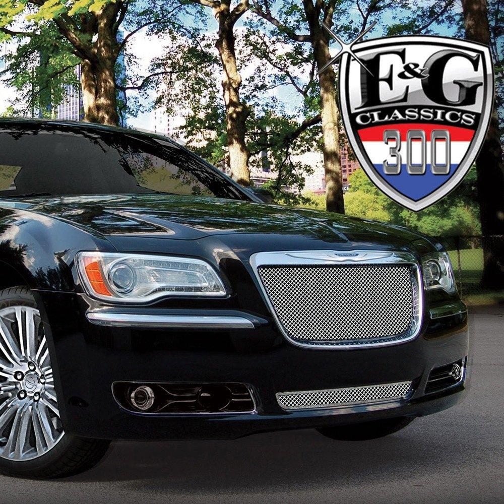 E Amp G Classics 174 Chrysler 300 2012 2 Pc Chrome Fine Mesh Grille