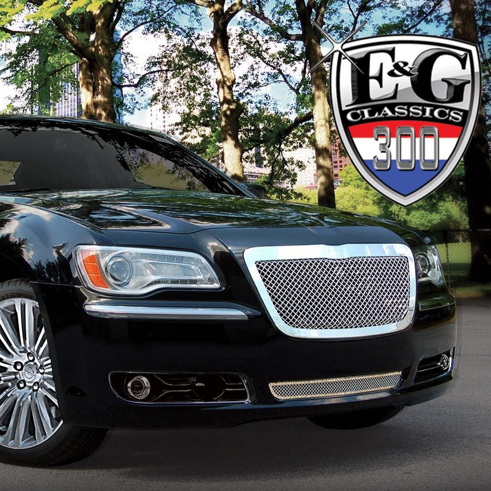 Chrysler 300 2013 2-Pc Chrome Fine Mesh Grille
