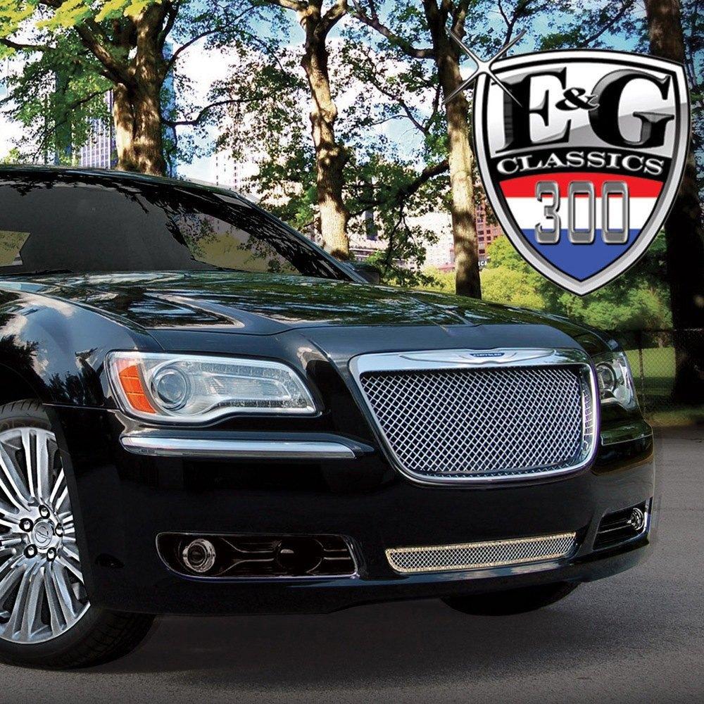 E&G Classics® - Chrysler 300 2013 2-Pc Chrome Heavy Mesh