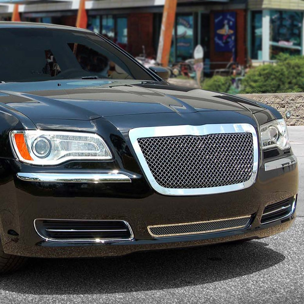 Chrysler 300 2012 2-Pc Black Ice Mesh Grille