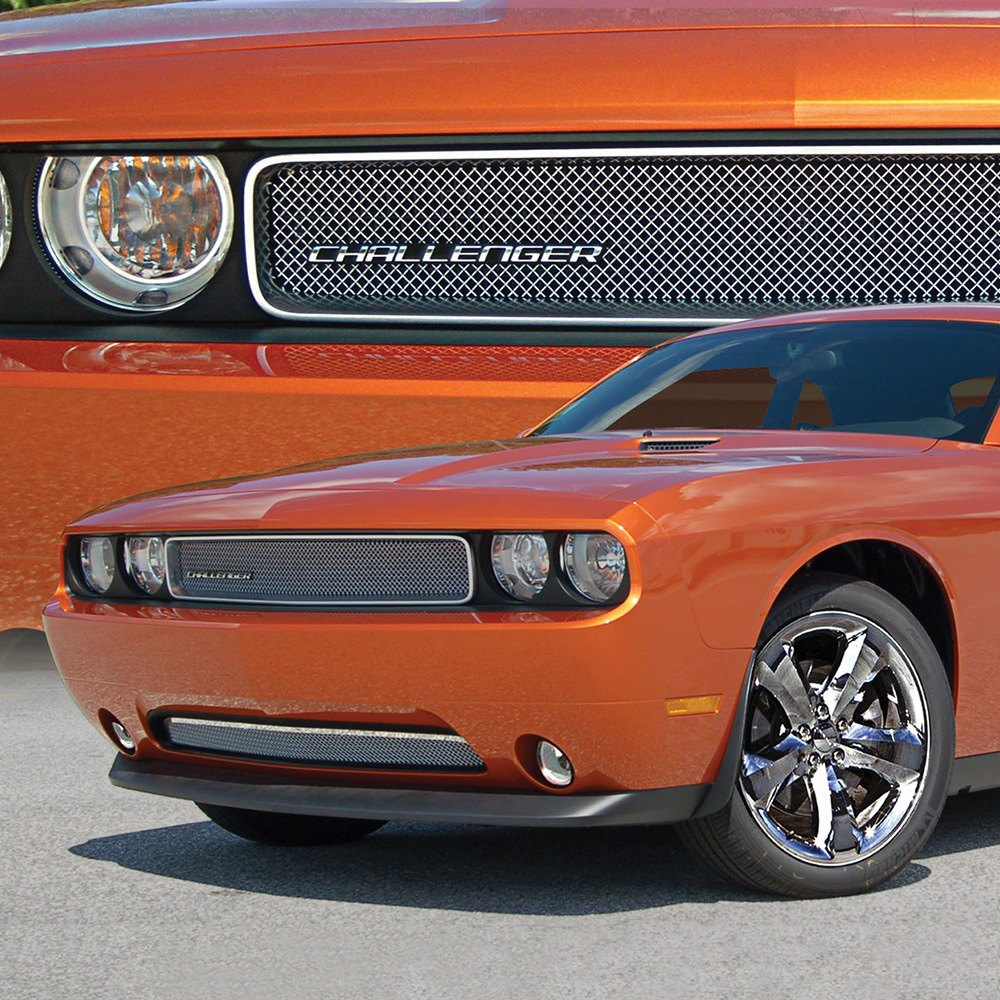 E G Classics 1388 0102 11r Dodge Challenger 2011 2014 2 Pc Chrome Fine Mesh Main And Bumper