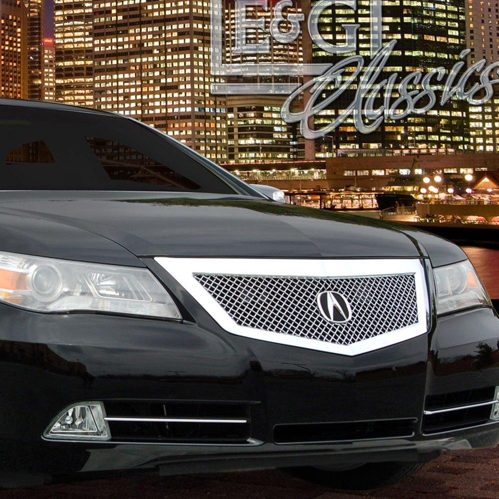 For Acura RL 2009-2010 E&G Classics 1-Pc Chrome Heavy Mesh