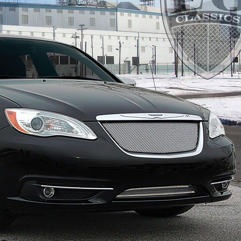 Chrysler 200 2013 2-Pc Chrome Fine Mesh Grille
