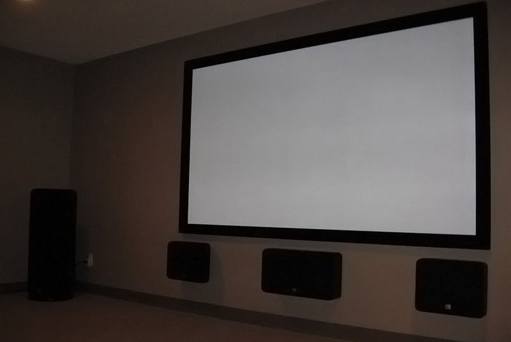 elunevision elara fixed frame projection screen