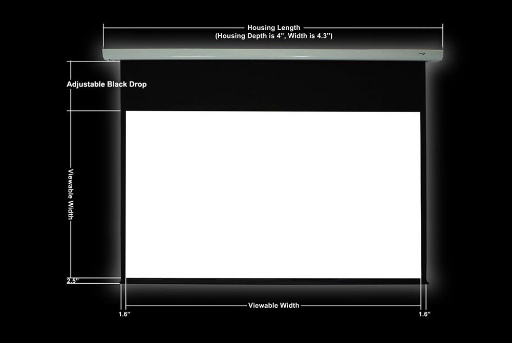 Elunevision ev e 106 1 2 luna series high definition for 130 inch motorized projector screen