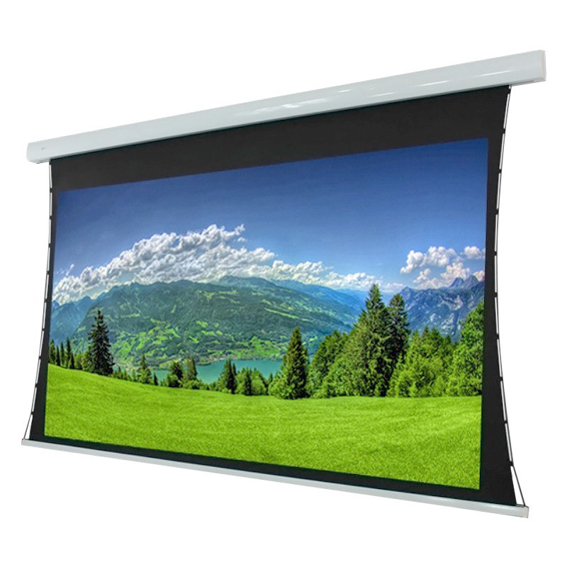 Elunevision ev t 120 1 2 titan series high definition for Tab tensioned motorized projection screen