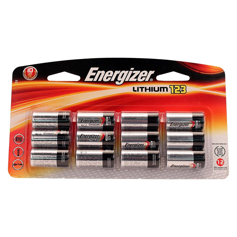 energizer el123bp 12 cr123a 3v photo lithium batteries. Black Bedroom Furniture Sets. Home Design Ideas