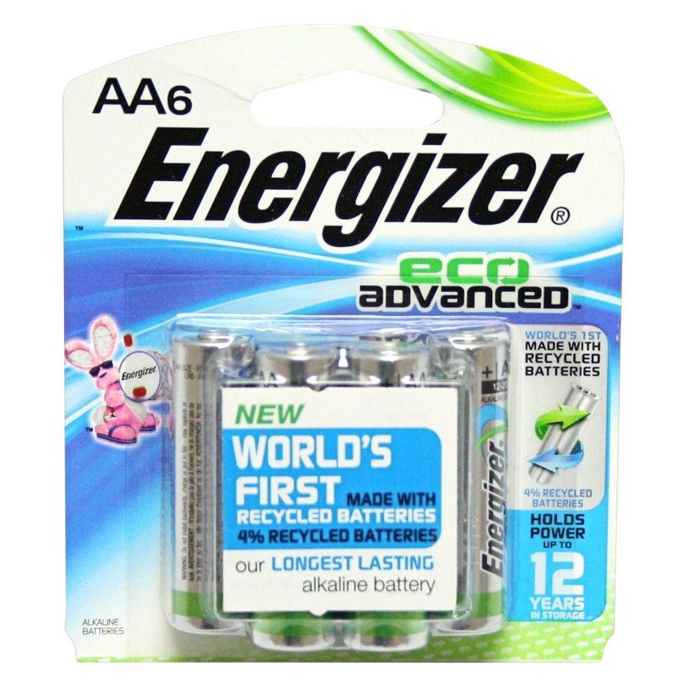 energizer xr91bp 6 ecoadvanced aa 1 5v recycled alkaline batteries. Black Bedroom Furniture Sets. Home Design Ideas