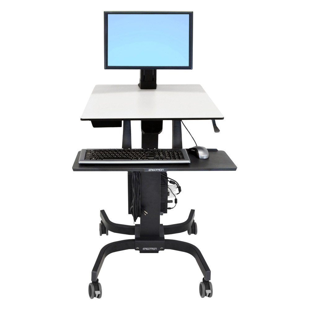 ergotron 24 216 085 workfit c single hd sit stand workstation. Black Bedroom Furniture Sets. Home Design Ideas