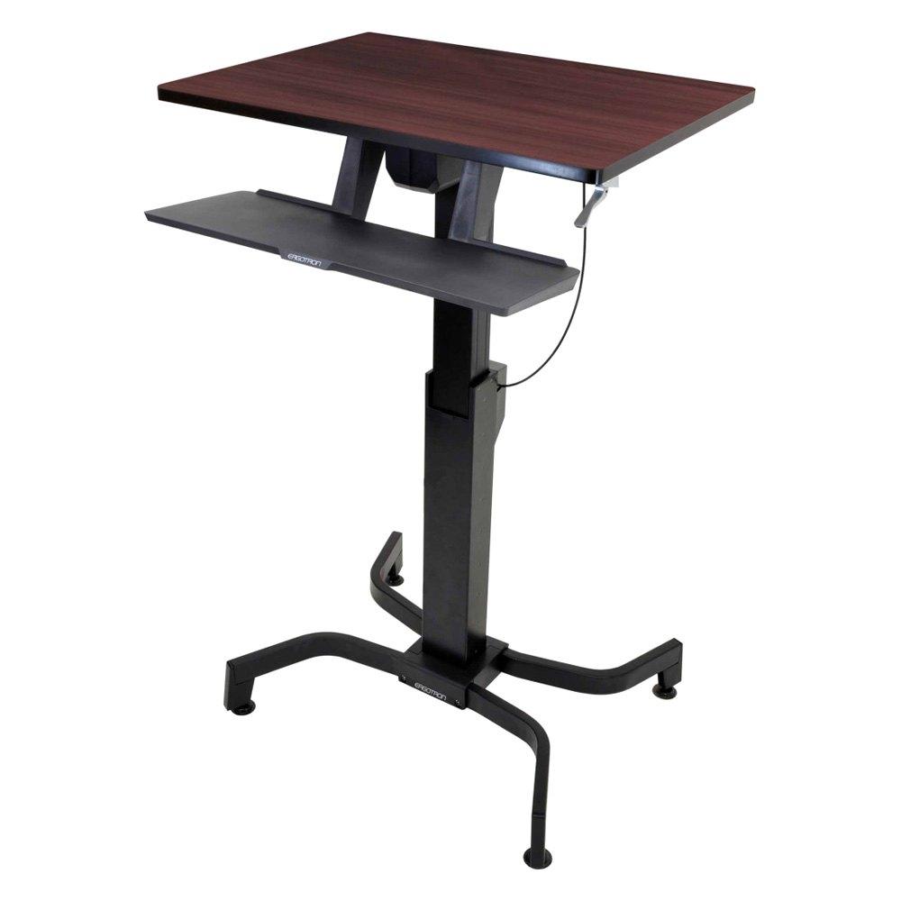 Ergotron 174 24 280 927 Workfit Pd Sit Stand Desk Walnut