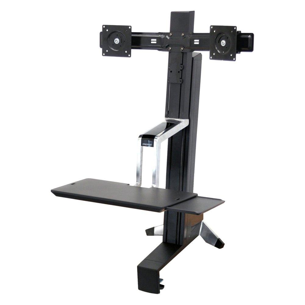 Ergotron Workfit S Dual Monitor Sit Stand Workstation Ebay