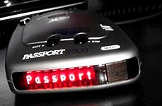 Escort Passport 8500 Windshield Radar Detector With Red Display