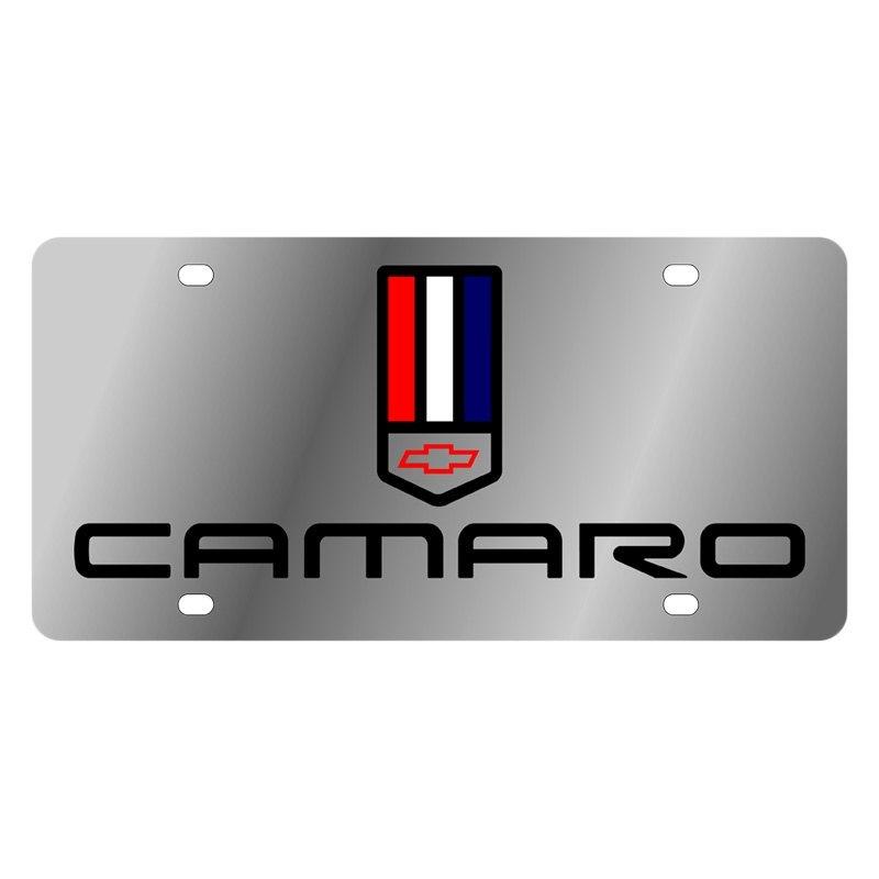 Eurosport Daytona Gm License Plate With Camaro Logo And Tri Bar