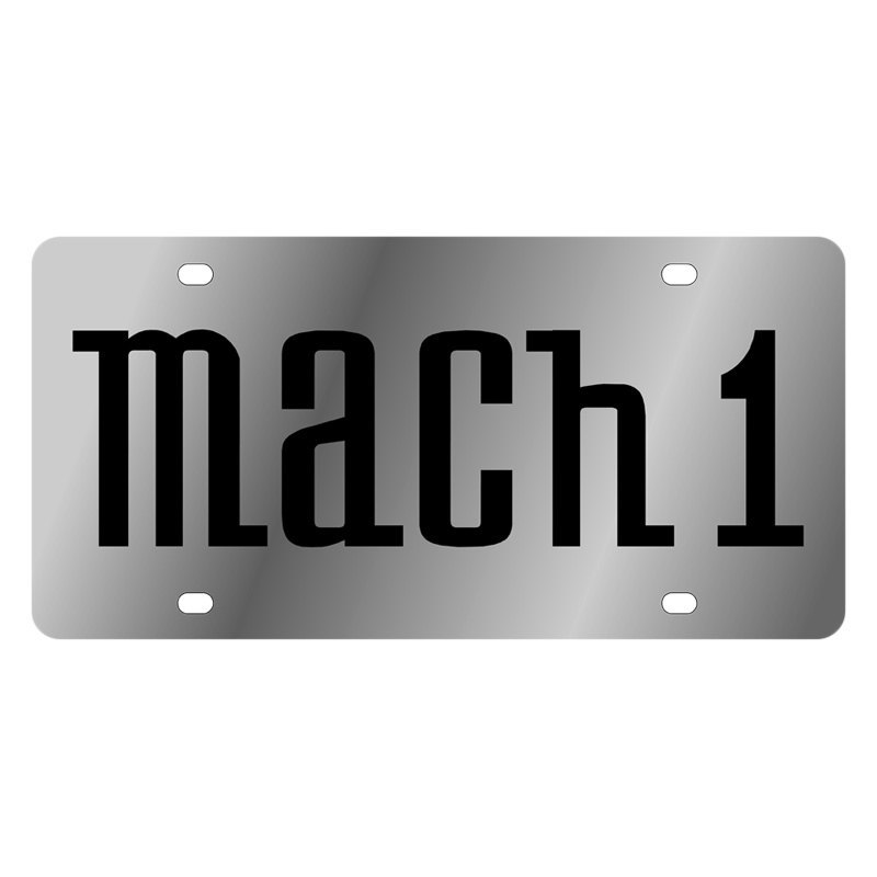 Eurosport Daytona Ford Motor Company License Plate With Mach 1 Logo