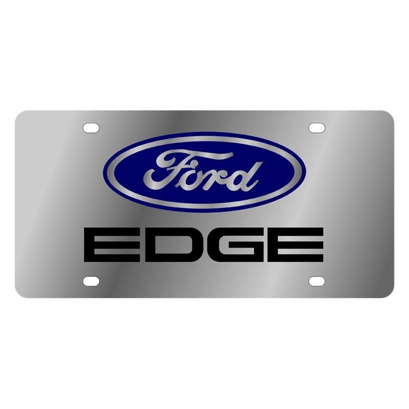 Eurosport Daytona Ford Motor Company License Plate With Edge Logo And Ford Emblem