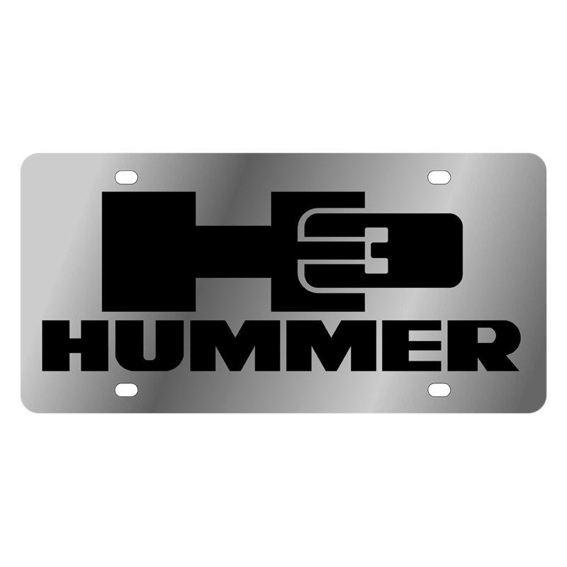 eurosport daytona174 gm license plate with hummer h3 logo