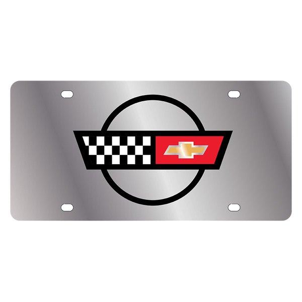 eurosport daytona174 13511 gm license plate with corvette