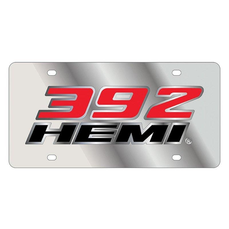 eurosport daytona 1497 1 lazertag polished license plate with 392 rh carid com hemi logo fender covers hemi logo images