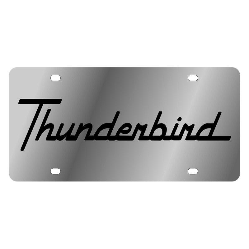 1545 1 Ford Motor Company License Plate with Black Thunderbird Logo