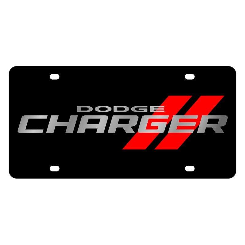 Daytona Charger 2017 Black >> Eurosport Daytona 2473N-1 - Black License Plate with Dodge Charger Logo | eBay