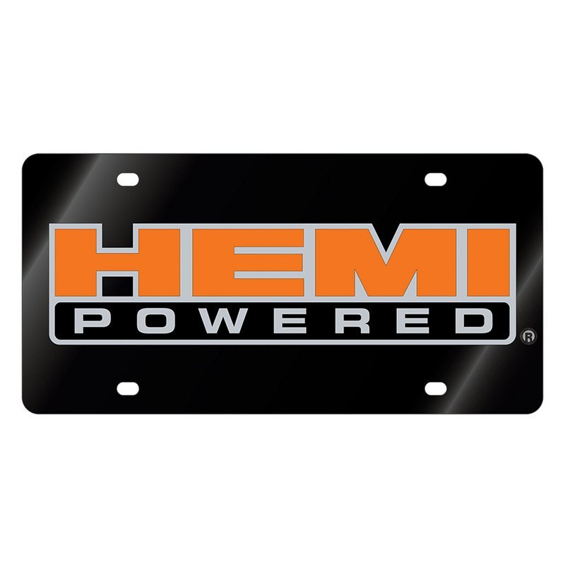 eurosport daytona license plate with hemi powered logo rh carid com hemi logo font hemi logo wallpaper