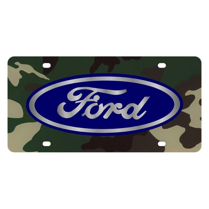 Ford Motor Company Lazertag Green Camo License Plate W