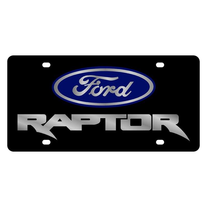 Eurosport Daytona Ford Motor Company License Plate With Raptor Logo