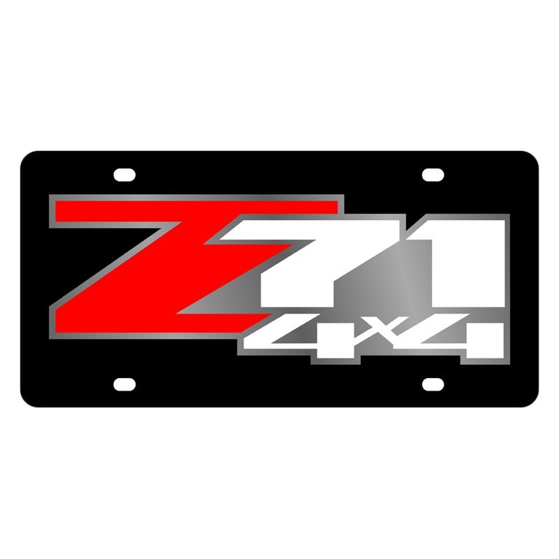 eurosport daytona 3335 1 gm black license plate with silver z71 rh carid com z71 logo license plates z71 logo seat covers