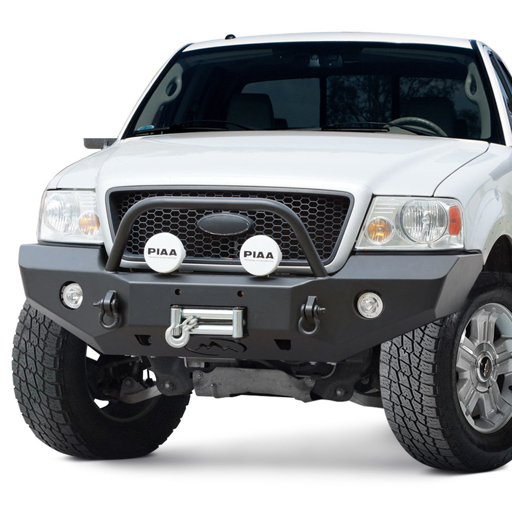 expedition one ford f 150 2005 2008 rangemax full width front winch hd bumper with center hoop. Black Bedroom Furniture Sets. Home Design Ideas