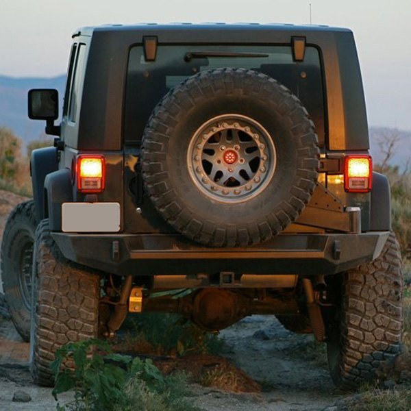Winch Bumper With Led Lights By Rovers North For Discovery: Jeep Wrangler 2007 Trail Series Full