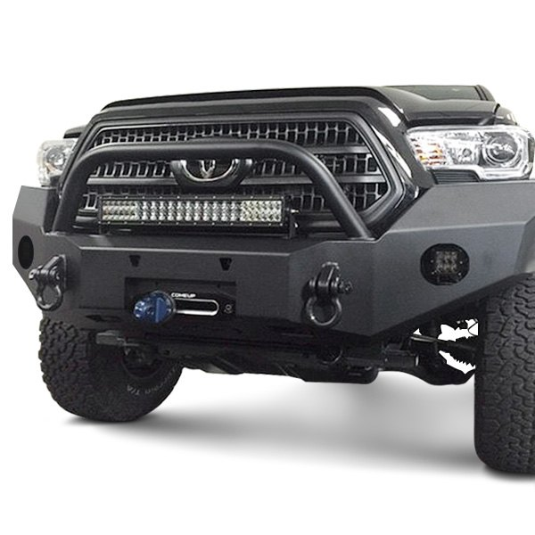 expedition one toyota tacoma 2017 rangemax full width front winch hd bumper with center hoop. Black Bedroom Furniture Sets. Home Design Ideas