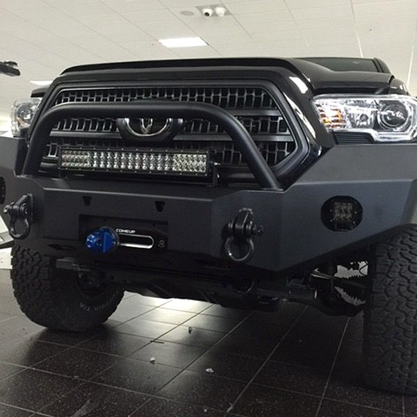 expedition one toyota tacoma 2017 rangemax full width front winch hd bumpe. Black Bedroom Furniture Sets. Home Design Ideas