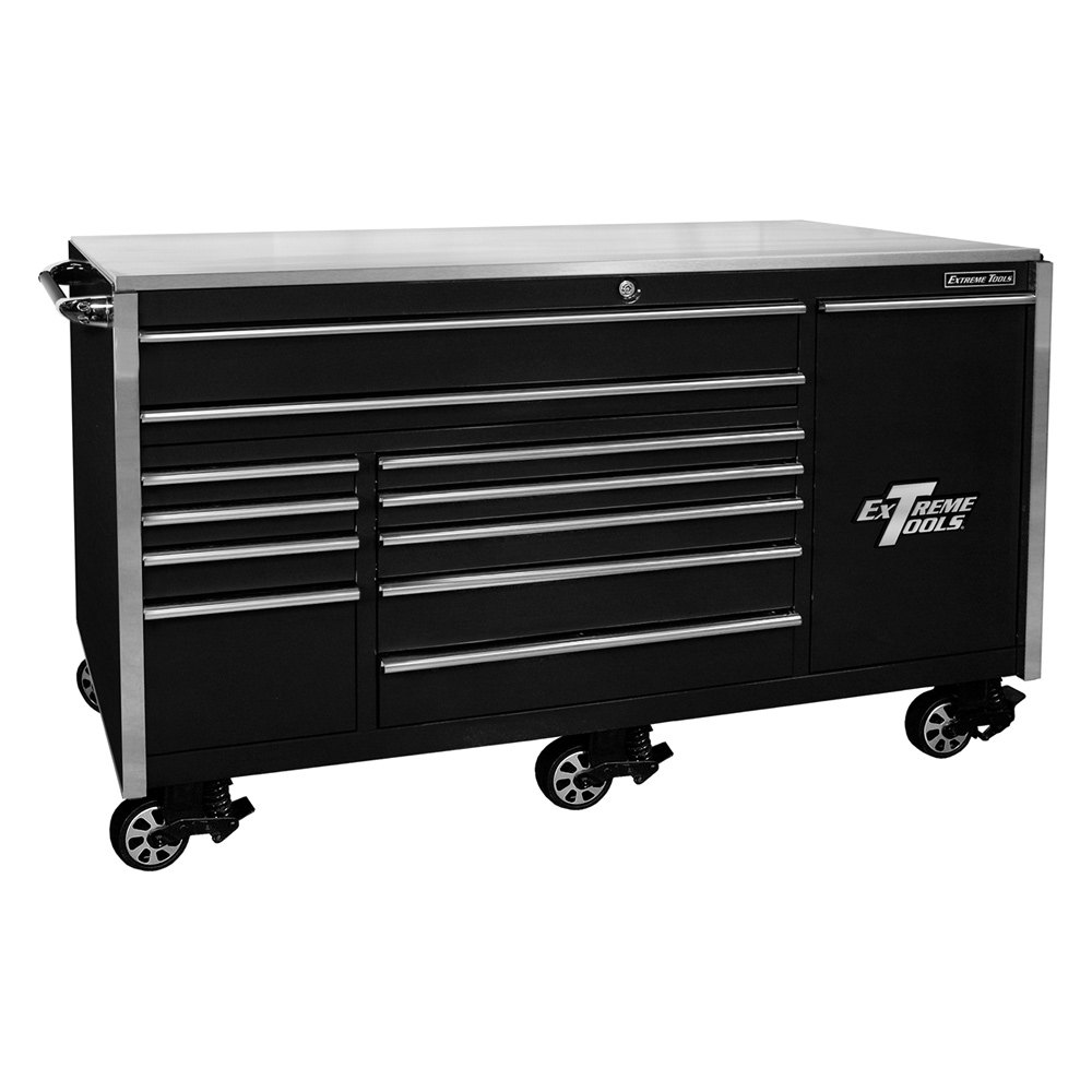 Extreme tools 76 12 drawer professional roller cabinet for Roller sideboard