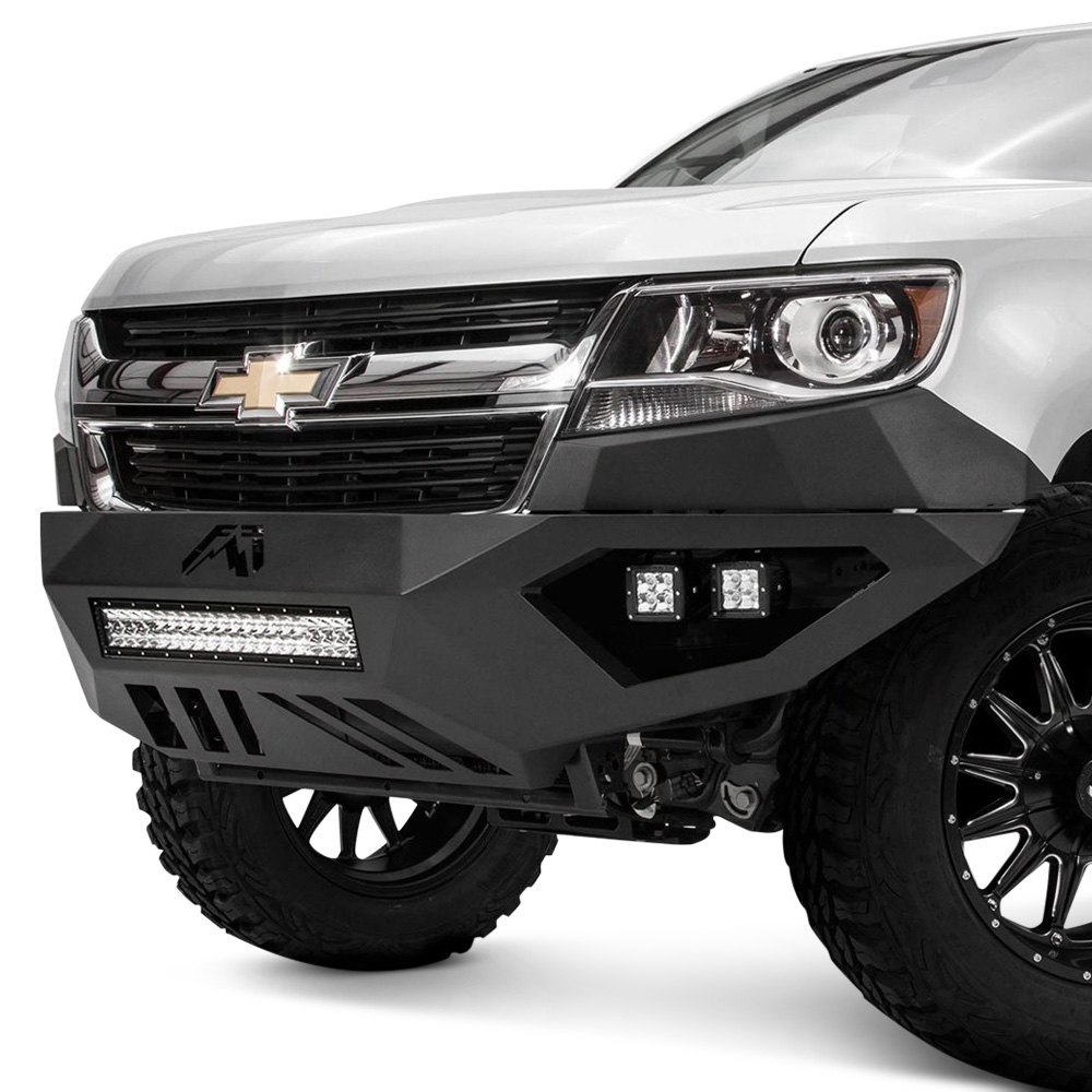 fab fours chevy colorado 2016 vengeance full width black front hd bumper. Black Bedroom Furniture Sets. Home Design Ideas