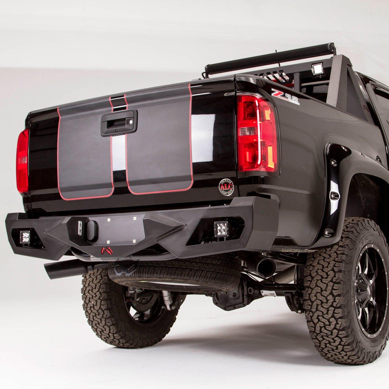 fab fours chevy colorado 2016 vengeance full width black rear hd bumper. Black Bedroom Furniture Sets. Home Design Ideas