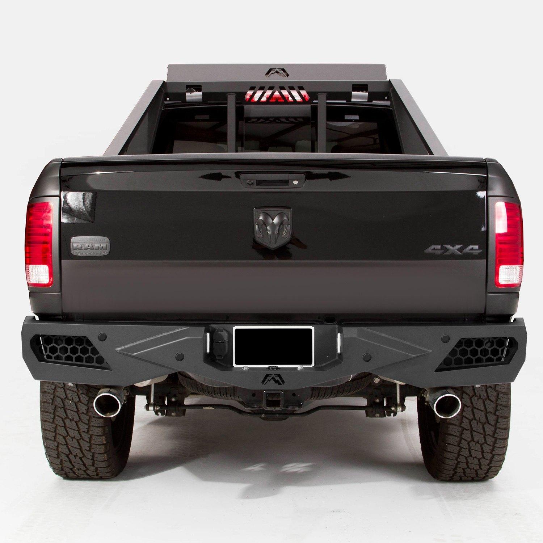 Dodge Ram 3500 Rear Bumper: For Dodge Ram 3500 10 Fab Fours Vengeance Full Width Black