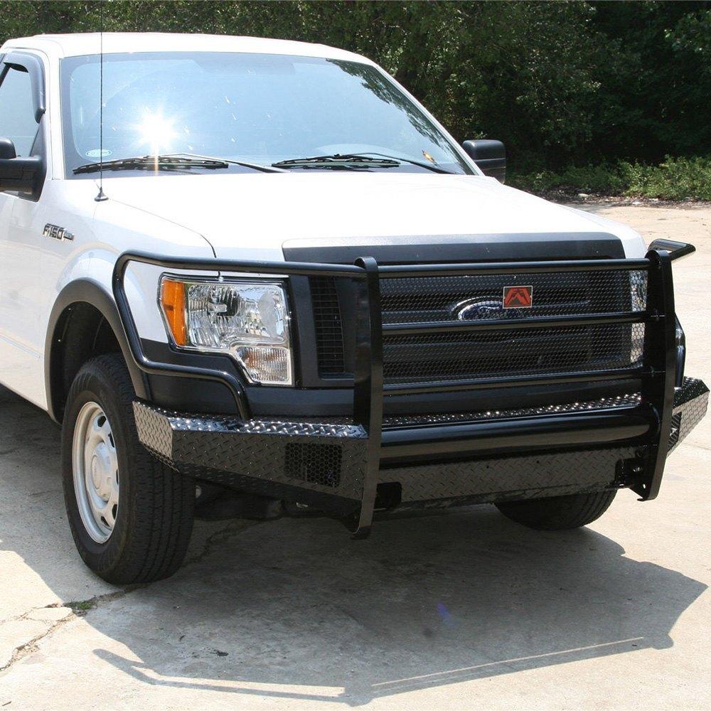2014 Ford F150 Accessories >> Fab Fours® - Ford F-150 2009-2014 Black Steel Full Width ...