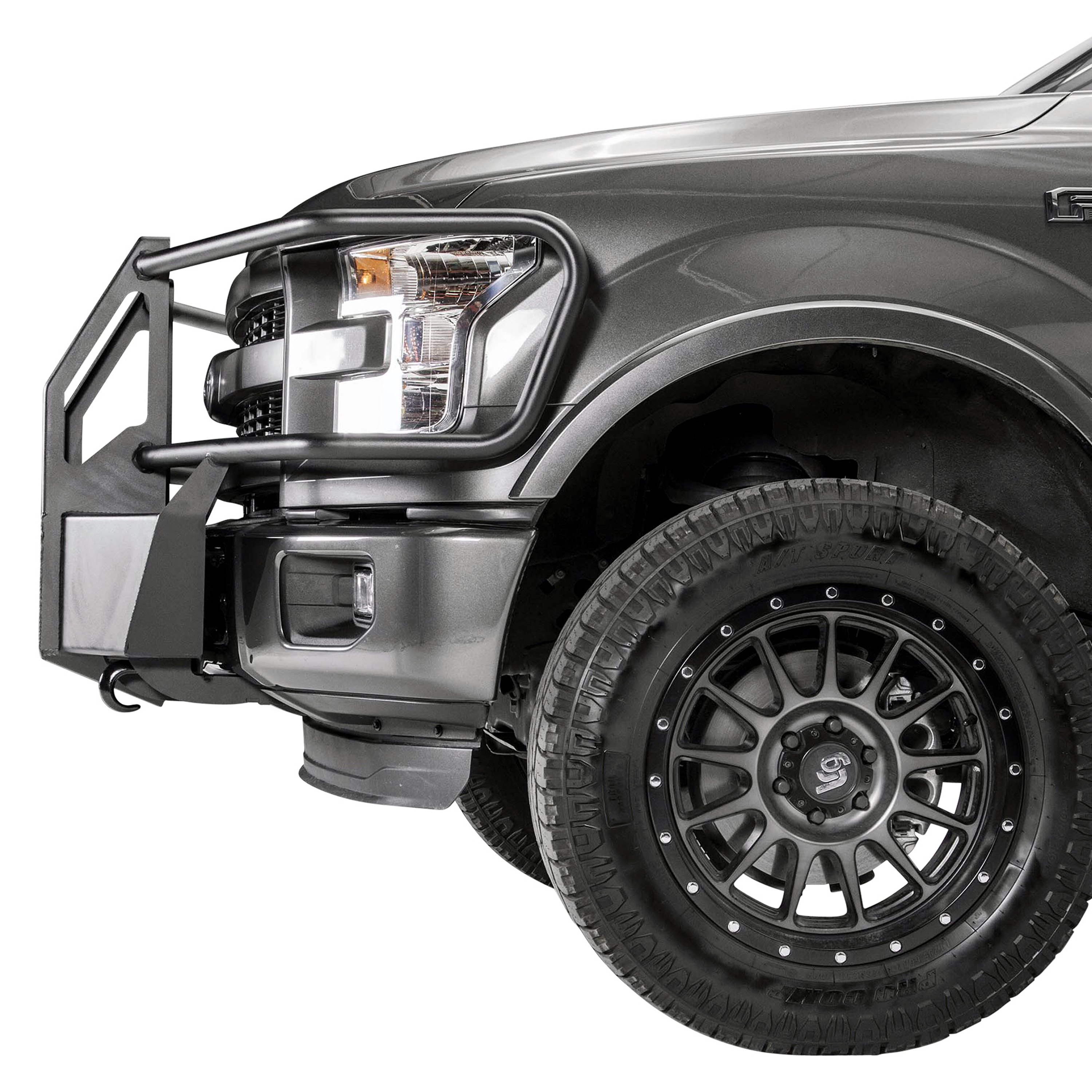 Fab Fours® - Ford F-150 2015 Small Frame Winch Mount with Full ...