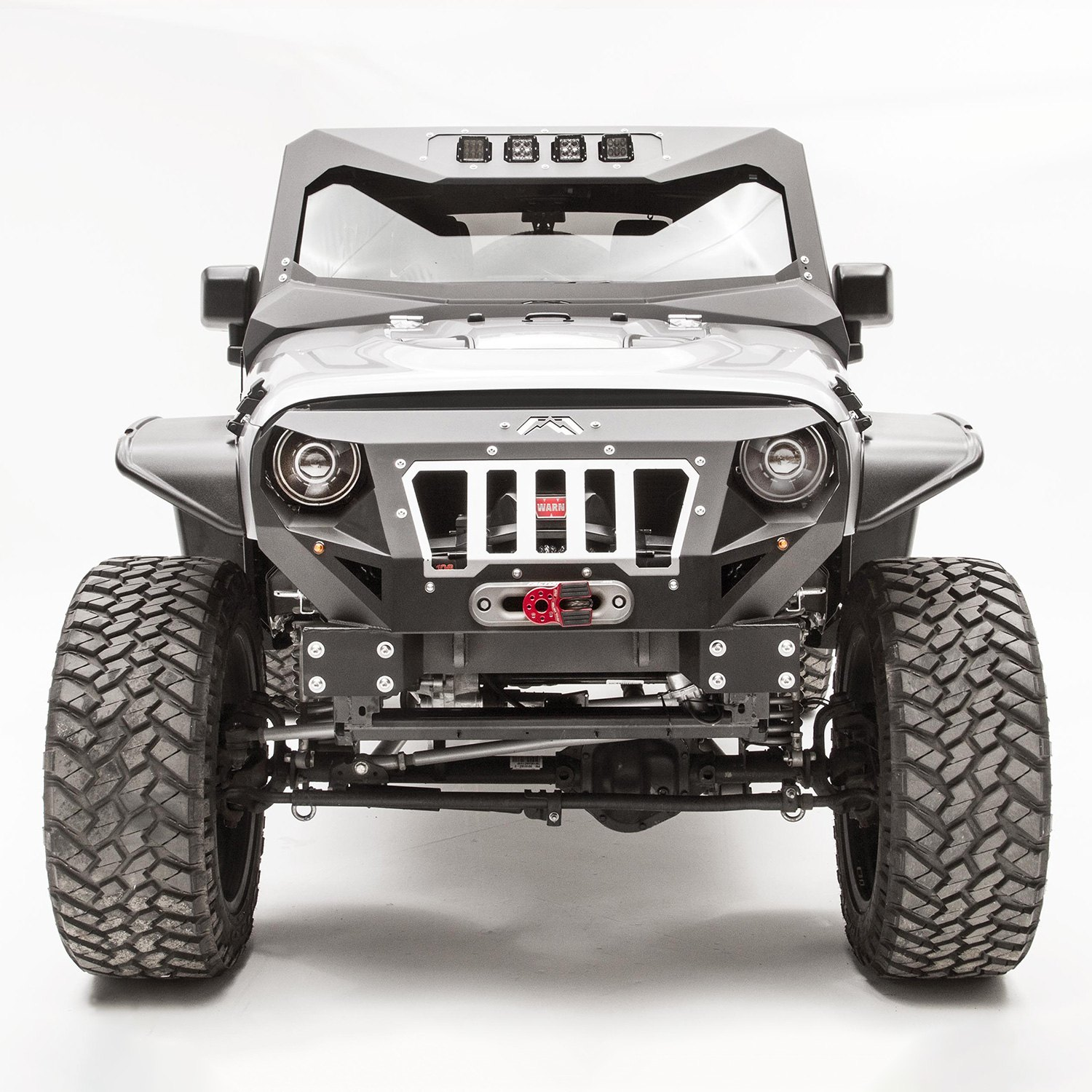 Fab Fours Jeep Wrangler 2010 Grumper Stubby Front Winch