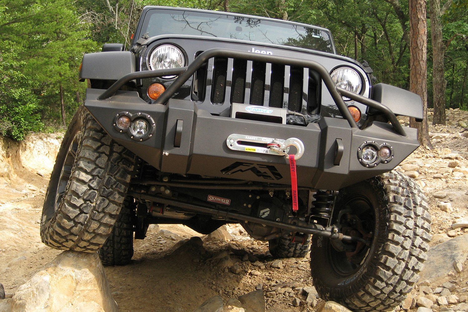 Jeep Jk Bumpers : Fab fours jeep wrangler lifestyle full width front