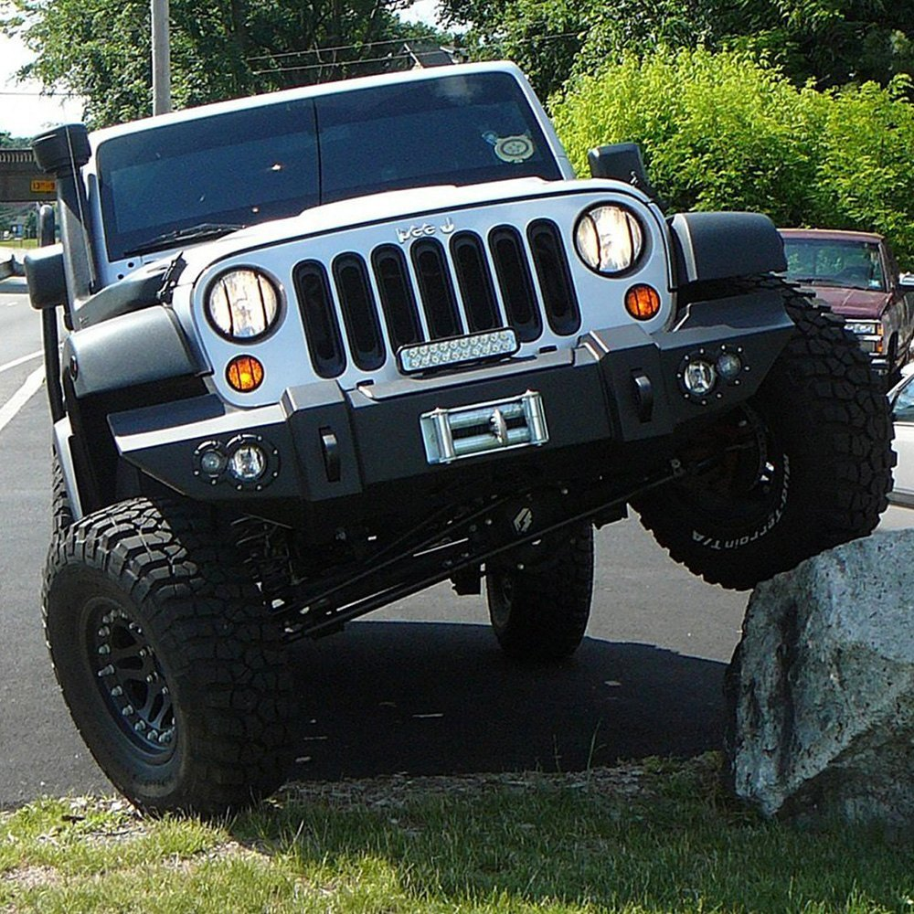 Jeep Tj Front Bumper : Fab fours jeep wrangler lifestyle full width front