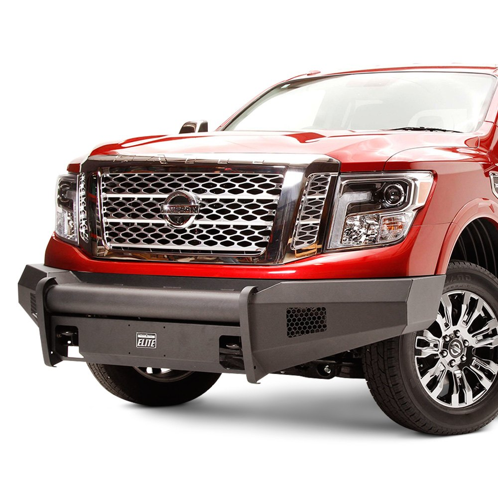 fab fours nissan titan xd 2017 black steel elite full. Black Bedroom Furniture Sets. Home Design Ideas