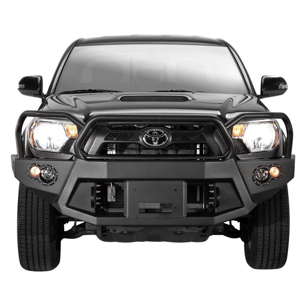 Heavy Duty Front Steel Bumper With Winch Mount Da5645 For: Premium Full Width Black Front Winch HD Bumper W Full