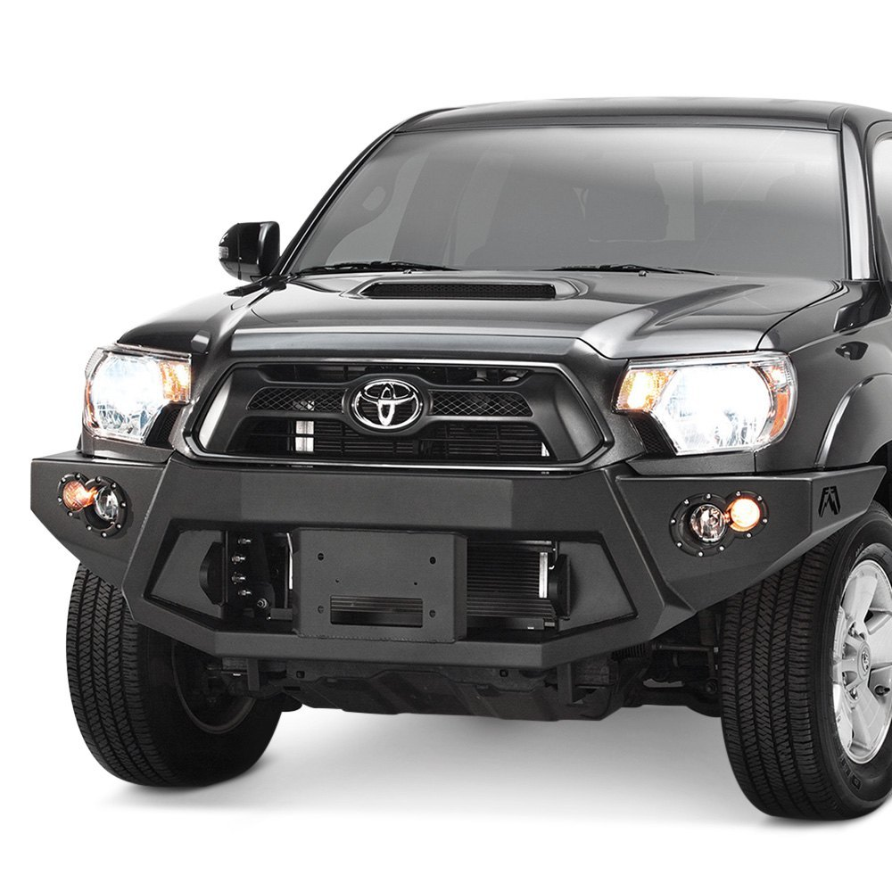 fab fours toyota tacoma 2014 premium full width front winch hd bumper. Black Bedroom Furniture Sets. Home Design Ideas