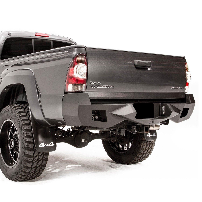 fab fours toyota tacoma 2015 vengeance full width black rear hd bumper. Black Bedroom Furniture Sets. Home Design Ideas